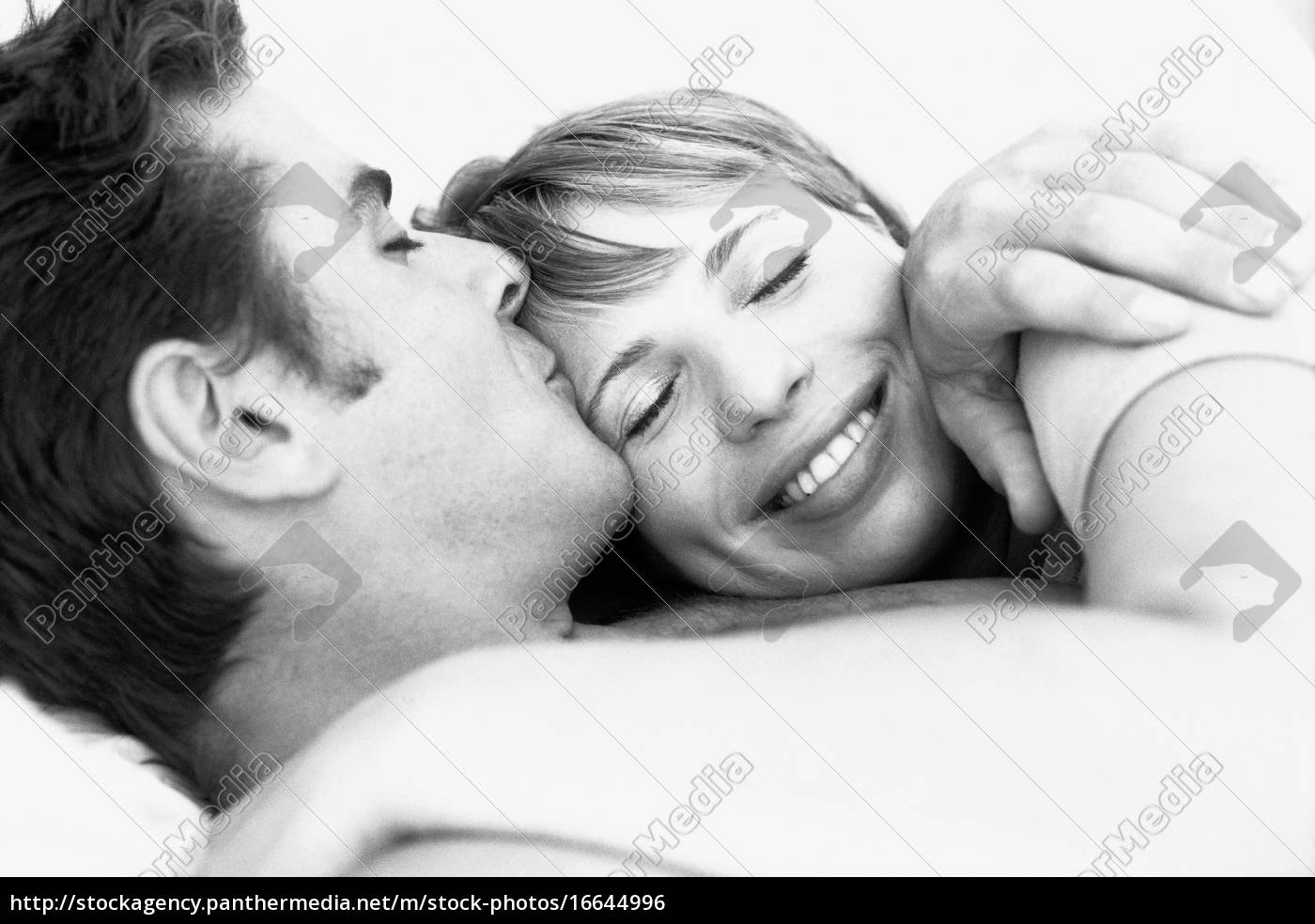 couple, embracing, , man, kissing, woman's, forehead, - 16644996