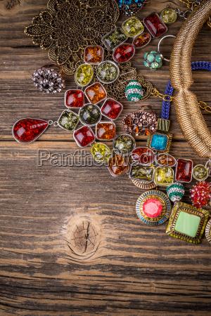 necklaces made of rhinestones