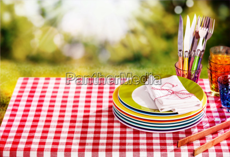 cute little red and white picnic