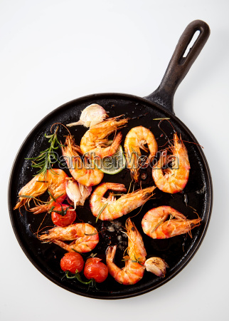 speciality prawn appetizer with spicy seasoning