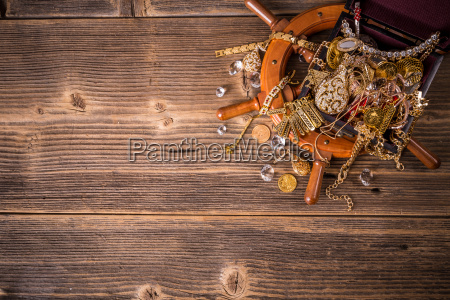 top view of treasure chest