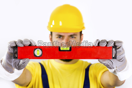 quality control construction worker with
