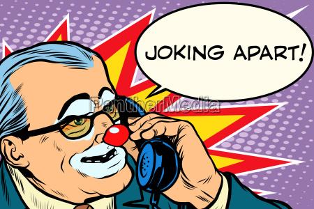 evil clown boss joking apart