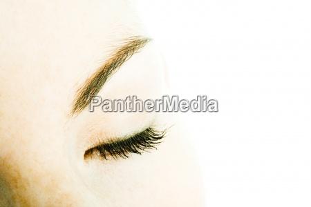 females closed eye