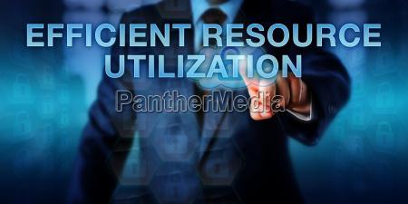 manager touching efficient resource utilization