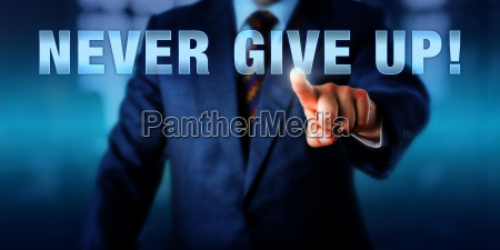 management coach pushing never give up