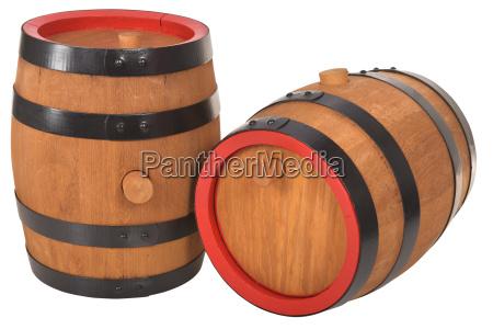 two old beer barrels