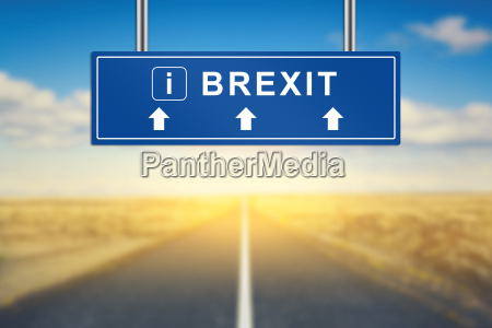 brexit or british exit words on