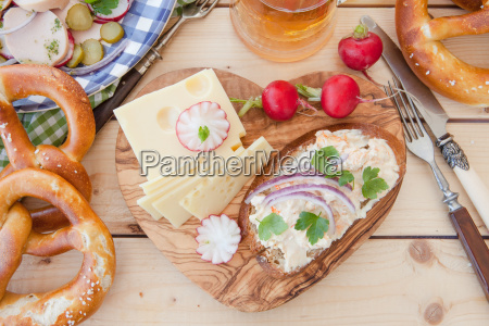 rustic cheese plate
