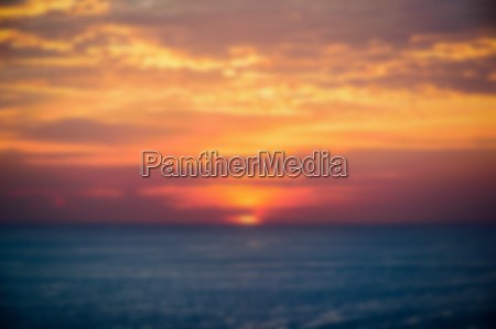 blur background of sunset