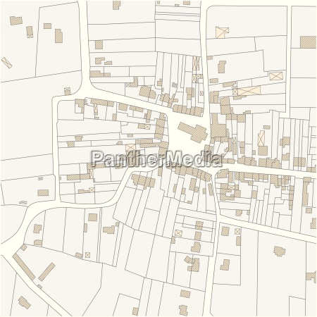 imaginary cadastre map of territory with