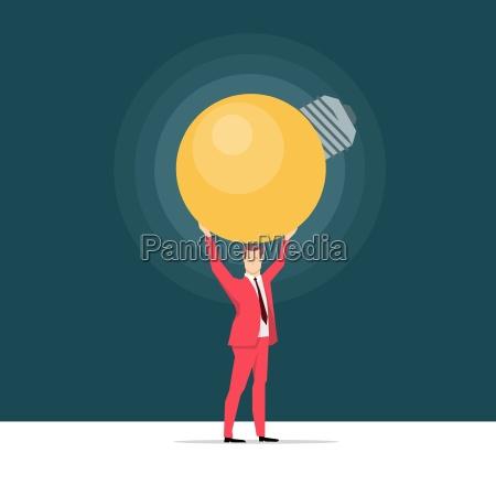 red suit businessman great ideavector concept