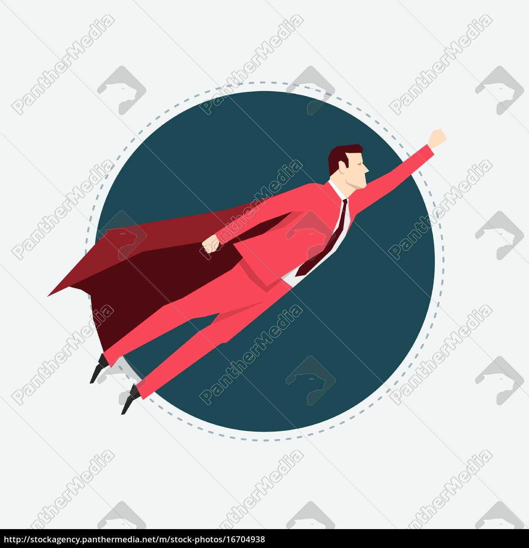 businessman, in, red, suit., super, hero. - 16704938