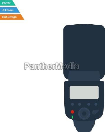 flat design icon of portable photo