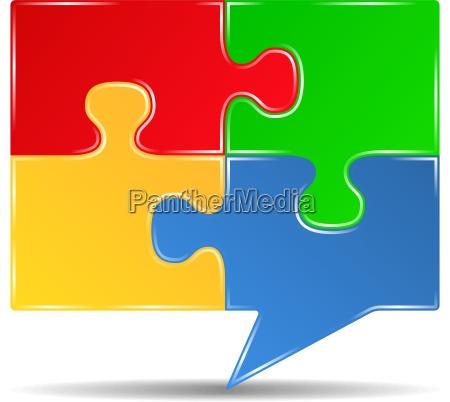 puzzle sprechblase