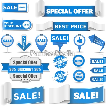 blue sale banners
