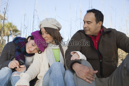 family together outdoors