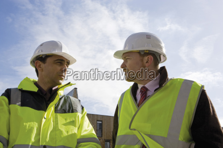 building contractor and businessman in hard
