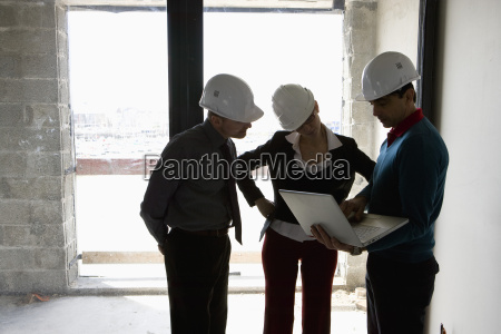 property developer and business people looking