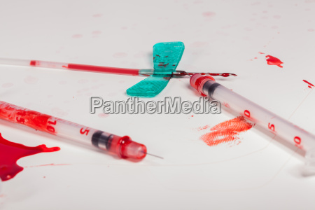 injection needle for taking blood with