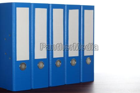 blue row of folders