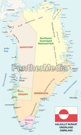 administrative and political vector map with