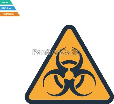 flat design icon of biohazard