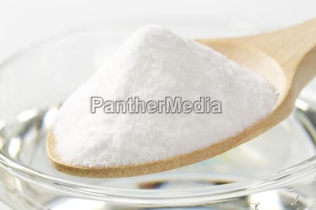 spoon of baking soda