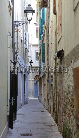 narrow street in trieste