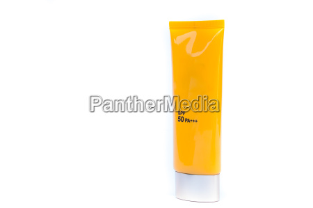 tube container of sun cream