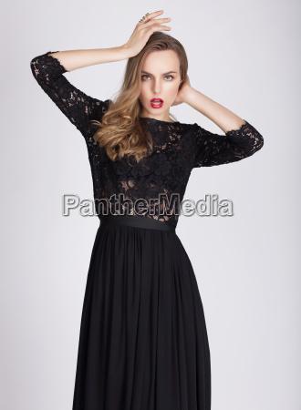 woman in dress posing