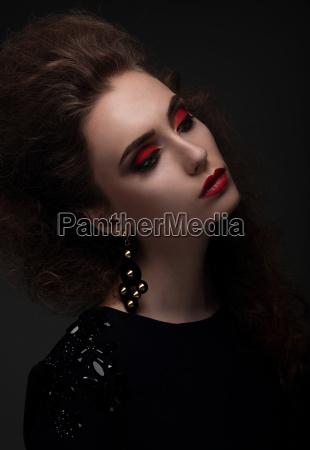 high fashion look glamor portrait