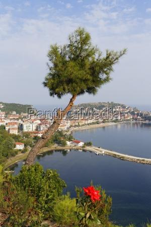 turkey black sea townscape of amasra
