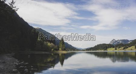 austria tyrol tannheimer tal mountain lake