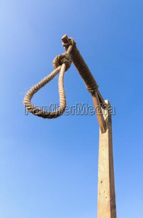 gallows against blue sky