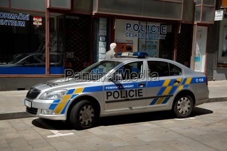 police with police car in brno