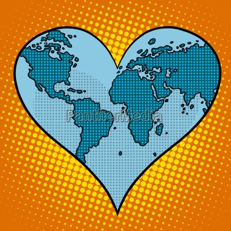 heart earth planet
