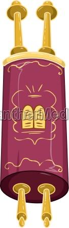 jewish golden closed torah holy bible