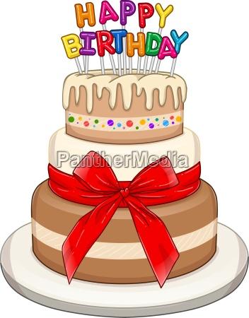 three floors happy birthday cake
