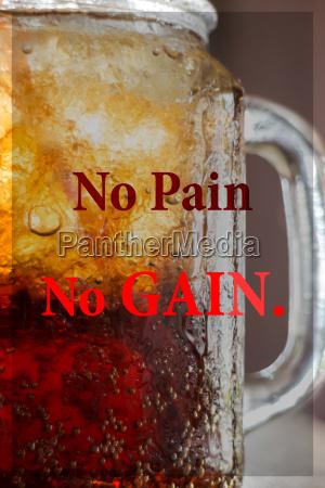 no pain no gain inspirational quote