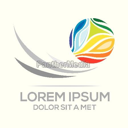 logo idea global world imagination leaves