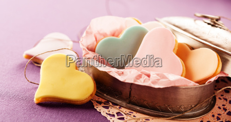 speciality iced fondant heart shaped cookies