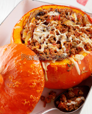 delicious fall cuisine with a stuffed