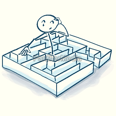 stick figures in the maze and