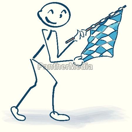 stick figure with bavarian flag