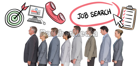 composite image of business team standing