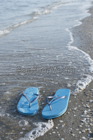 italy adriatic sea flip flops and