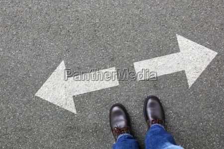 decision decision business concept businessman goals
