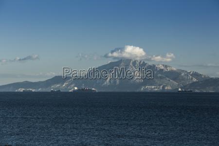 spain andalusia tarifa cargo ships passing