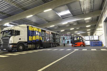truck in a parking garage